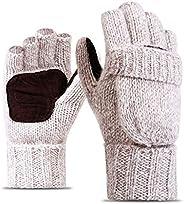 TraderPlus Winter Warm Touchscreen Gloves Wool Mittens for Women Men