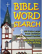 Bible Word Search: 100 Extra Large Print Christian Family Themed Puzzles