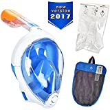 Tribord (Subea, Latest Version) Easybreath Full Face Snorkel Mask with GoPro Mount, Enhanced Anti-Fog and Anti-Leak