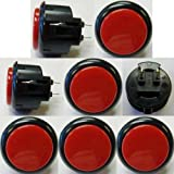 Japan Sanwa 8 Pcs OBSF-30 Black & Red OEM Arcade Push Button For Sale