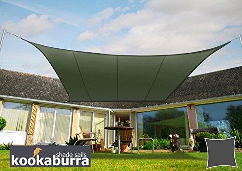 クッカバラ日除けシェードセイル セージ色 3.6x3.6m正方形 紫外線98%カット 防水タイプ OL0115SS B004XGN8MY 11500   四角: 3.6 x 3.6m