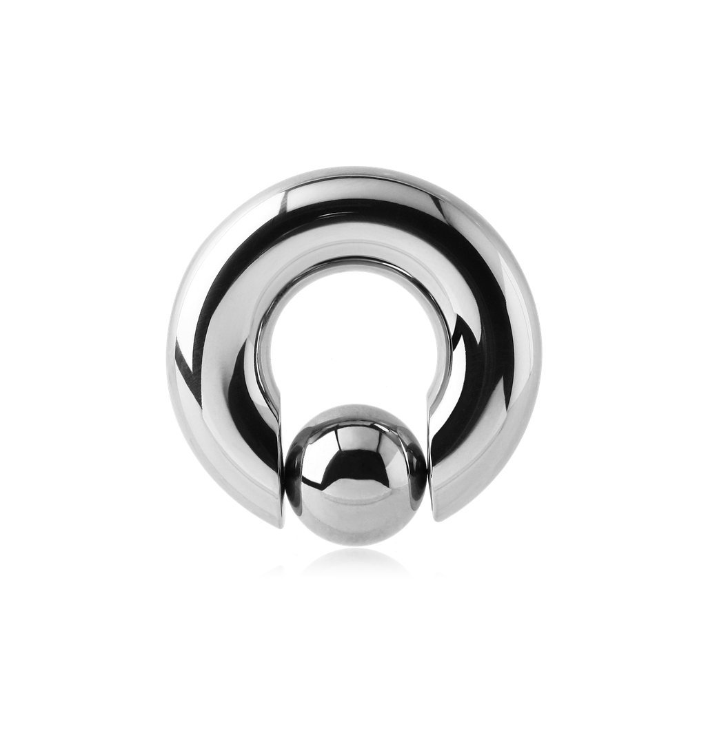 El Morro Body Piercing Jewelry Surgical Steel Ball Closure Ring With Pop Out Ball 000g 8g 6g 4g 2g 1g 0g 00g by El Morro