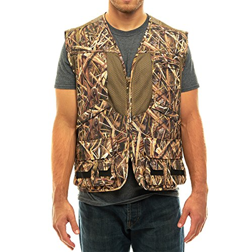 Deluxe Shooting Vest - TrailCrest Mossy Oak Deluxe Front Loader Shooting Vest, 4X, Shadow Grass