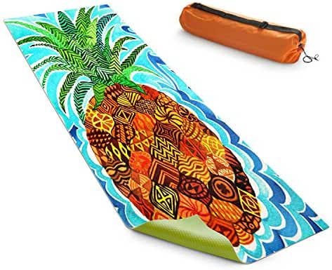 DiaNoche Yoga Mats by Rachel Brown Psychedelic Pineapple