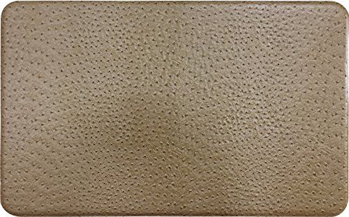 Gentle Step- Anti Fatigue Memory foam Kitchen Mat (Ostrich Khaki) by Raphael Rozen