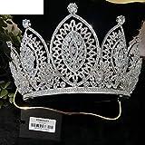 Wedding Exquisite Boutique Advanced Custom Luxury Zircon Rhinestone Crown Tiara Crown Tiara Diadem Pageant Princess Royal Special Birthday Party Bridesmaid Crown 385