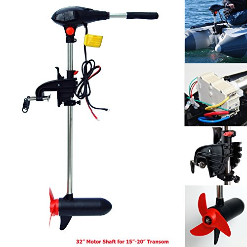 SEAMAX 65 Pound Thrust 32 Inches Shaft 12V Electric Trolling Motor, Salt Water Heavy Duty Version