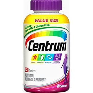 Centrum Women Multivitamin / Multimineral Supplement Tablet, Vitamin D3 (250 Count)