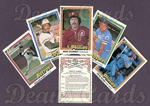 1981 Donruss Card (1981 Donruss Baseball Complete Set (In Box) (Baseball Set) Dean's Cards 8 -)