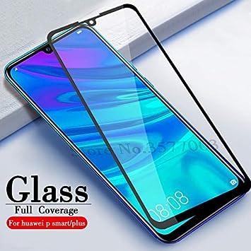 TRNY 3 Paquetes De Vidrio Templado para Huawei P Smart 2019 Protector De Pantalla De Vidrio para Huawei P Smart 2019 Psmart Z P-Smart Z Película Protectora De Vidrio Negro: Amazon.es: Electrónica