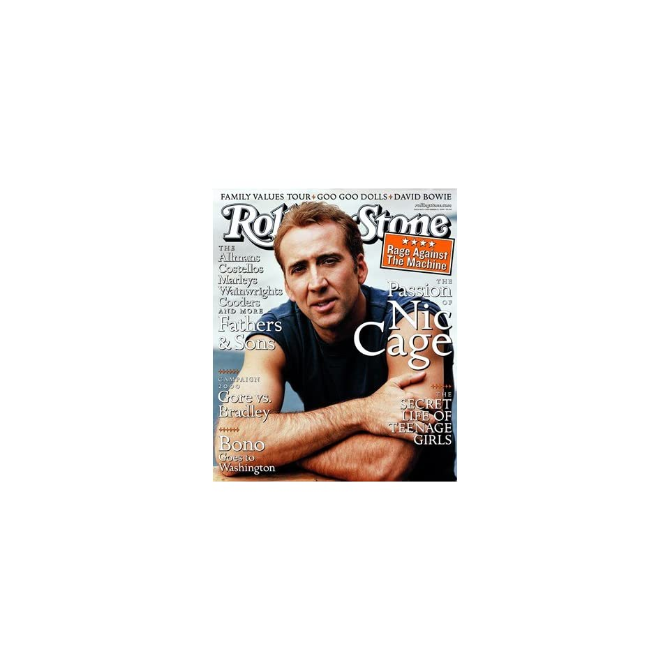 Nicolas Cage, 1999 Rolling Stone Cover Poster by Peter Lindbergh (9.00 x 11.00)