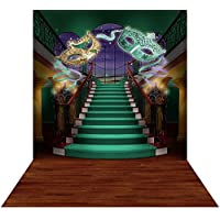 Photography Backdrop with Floor - Mardi Gras Staircase - 10x20 Ft. Seamless Fabric