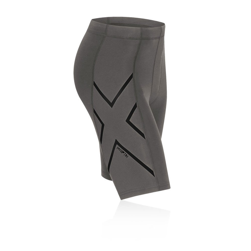 2XU メンズ Hyoptik着圧ショーツ B0117ZMUOK XL|Steel/Black Reflective Steel/Black Reflective XL