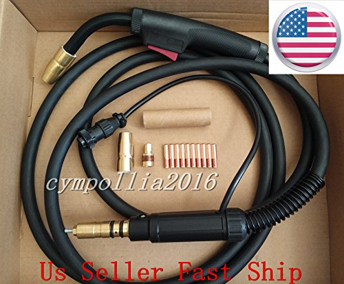 US SELLER MIG WELDING GUN 10' 150A Millermatic 35/90/120/130/130XP/135/140/141/150/175/180/185/190 and 211 Ironman 210