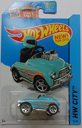 Hot Wheels, 2015 HW City, Pedal Driver [Turquoise] Die-Cast Vehicle (Driver Pedal)