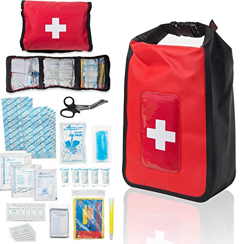 Delta Provision Waterproof First Aid Kit - Boating & Marine - Fully Stocked in a Heavy Duty Watertight Bag - Perfect for Boat, Truck, Kayak, Four Wheeler, Canoe, Camping, Fishing by Delta Provision
