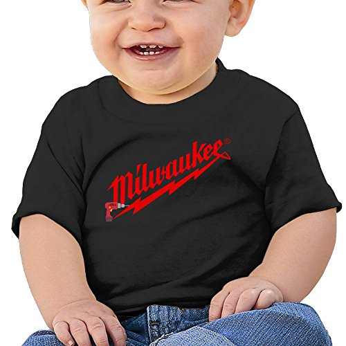 Power Tool Logo Milwaukee Cotton Summer Short Sleeve T-Shirt for Kids Gift 12 Months