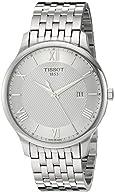 Tissot Men's 'Tradition' Swiss Quartz Stainless Steel Dress Watch, Color:Silver-Toned (Model: T0636101103800)