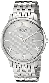 Tissot Men's 'Tradition' Swiss Quartz Stainless Steel Dress Watch, Color:Silver-Toned (Model: T0636101103800)