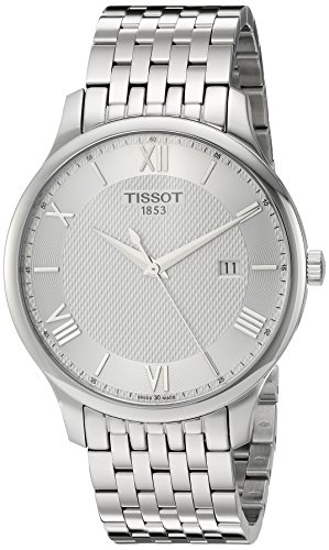 Tissot Men's 'Tradition' Swiss Quartz Stainless Steel Dress Watch, Color:Silver-Toned (Model: -