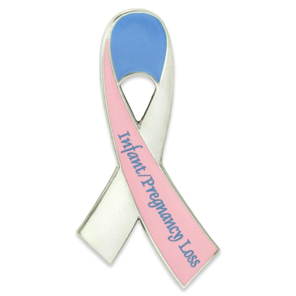 PinMart's Infant Pregnancy Loss Awareness Ribbon Enamel Lapel Pin