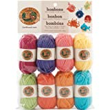 Arts & Crafts : Lion Brand Yarn 601-610 Bonbons Yarn, Brights
