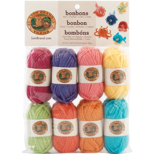 Lion Brand Yarn Lion Brand BonBons Yarn Pack Brights, for sale  Delivered anywhere in USA