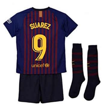 UKSoccershop 2018-2019 Barcelona Home Nike Little Boys Mini Kit (Luis  Suarez 9)  Amazon.es  Deportes y aire libre 431293e03b316