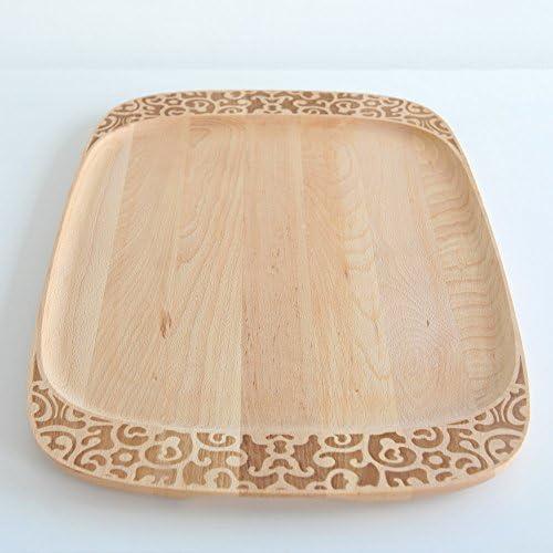 Alessi Mw22 Dressed in Wood Planche de Service en Bois de H/être avec D/écoration en Relief