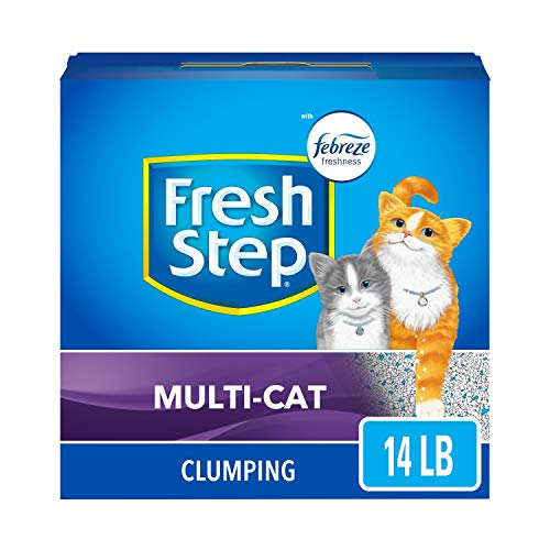 Fresh Step Multi-Cat Extra Strength Scented Litter with the Power of Febreze, Clumping Cat Litter, 14 Pounds (Package…