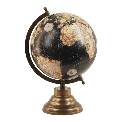 Art Deco Home - World Globe 20 cm
