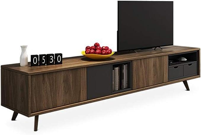 Gububi - Mueble Organizador de Escritorio para TV, Sala de Estar, Mueble Sencillo para Consola de TV, Madera, Amarillo, 200x40x52cm: Amazon.es: Hogar