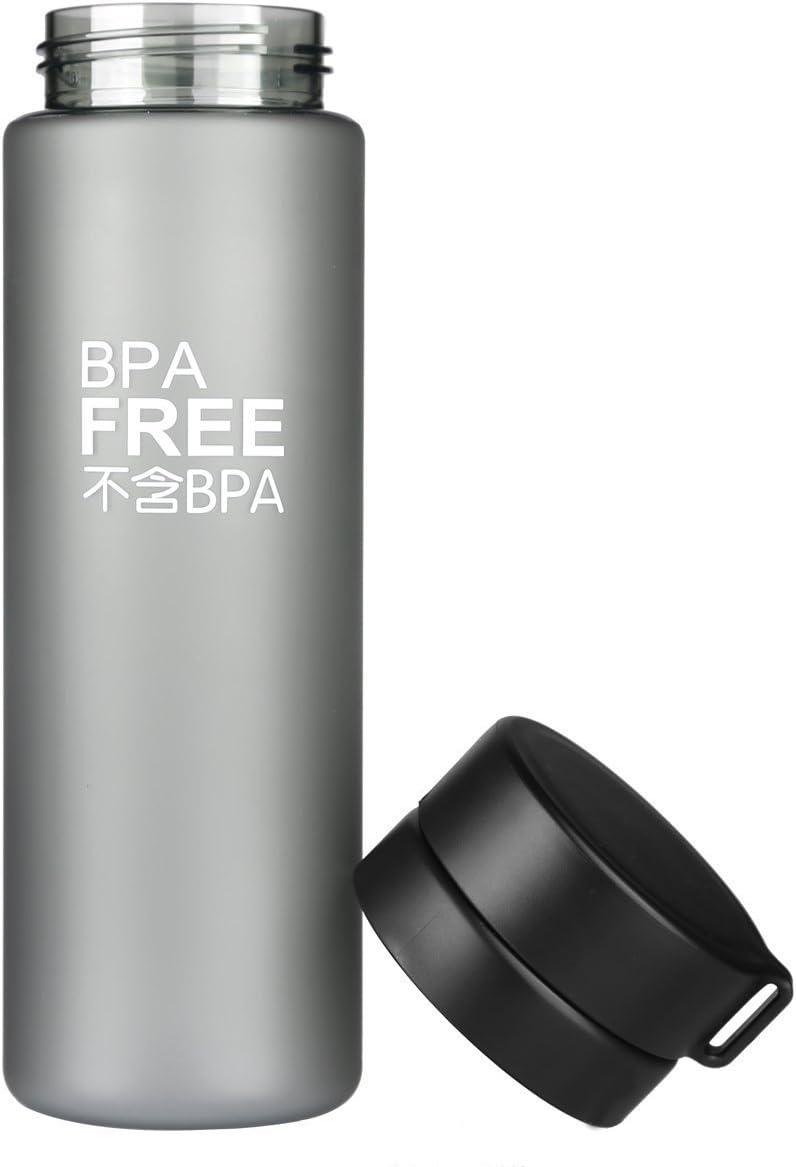 Boshi deportes botella de agua de plástico libre de BPA, 800 ml ...