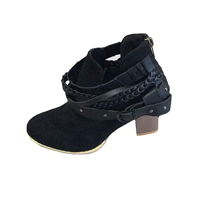 Botines Planos de Spring para Mujer Zapatos con Cordones para Mujer Zapatos Mujer Botas Nieve Otoño Invierno Calzado Bowknot Otoño e Invierno Wine Negro: ...