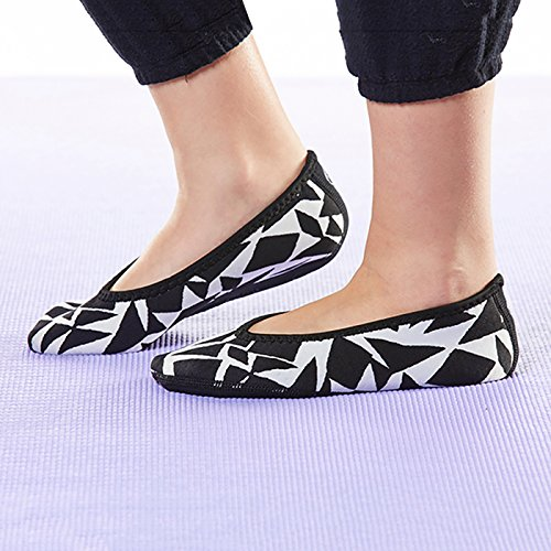 White Flexible Shoes Slippers Dance Slipper House Socks Shoes Best Yoga Shoes X Slippers Nufoot Flats Ballet Geo Black amp; Travel Large Indoor amp; Flats Foldable Socks Women's Shoes Exercise and gqx0zwF1