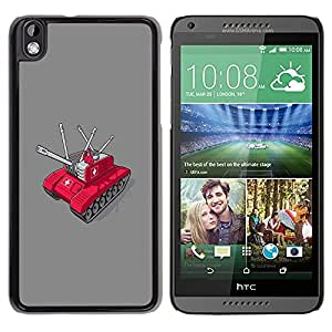 LECELL -- Funda protectora / Cubierta / Piel For HTC DESIRE 816 -- Swiss Army Tank --