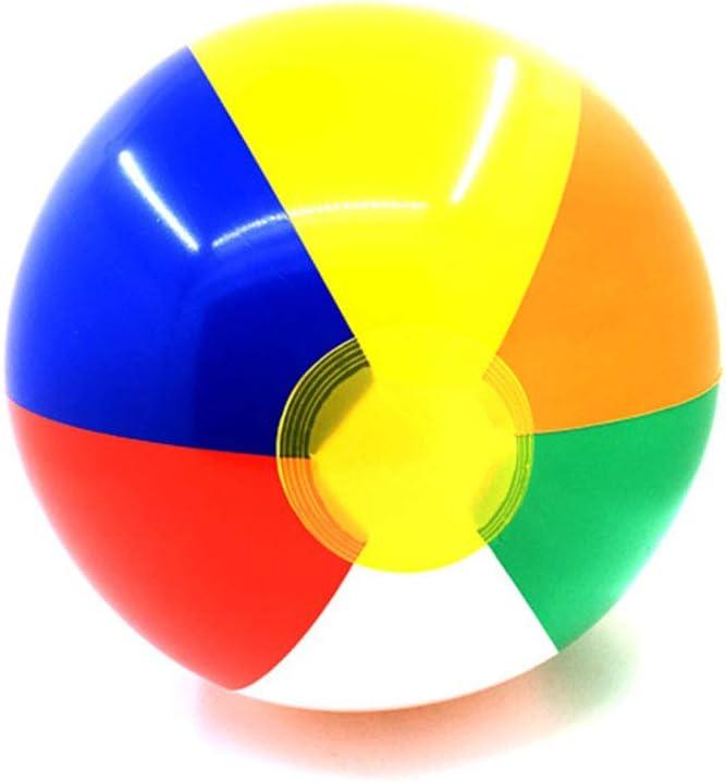 EisEyen - 5 Pelotas de Playa hinchables Coloridas para niños del Panel para Fiestas de Piscinas y Juegos: Amazon.es: Hogar