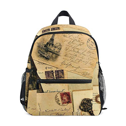 Kids Backpack Vintage Postcard School Backpacks Cool Bag Campus Daypack Gift