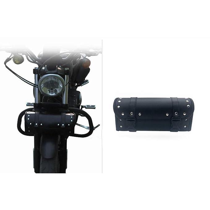 Bolsa de Herramientas para Moto de sill/ín Cuero, con Correas, para Motos Harley Surenhap