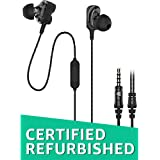 (CERTIFIED REFURBISHED) Ant Audio Dual Driver W59 in-Ear Wired Headset with Mic (Black)