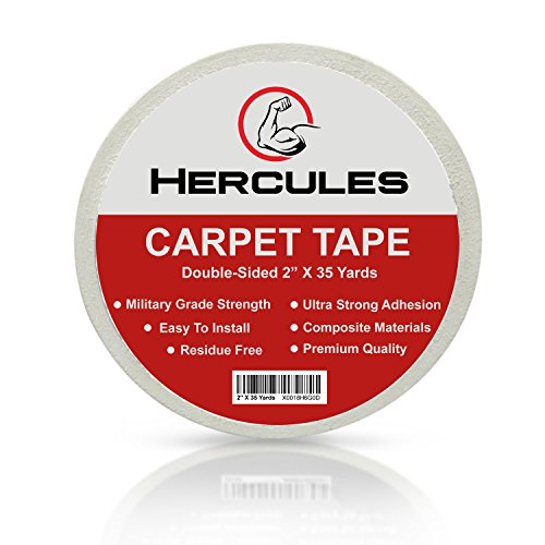 Double Sided Carpet Tape | Premium Brand | 2 Inch X 35 Yards, made of Composite Materials at Military Grade Strength White Color by Hercules