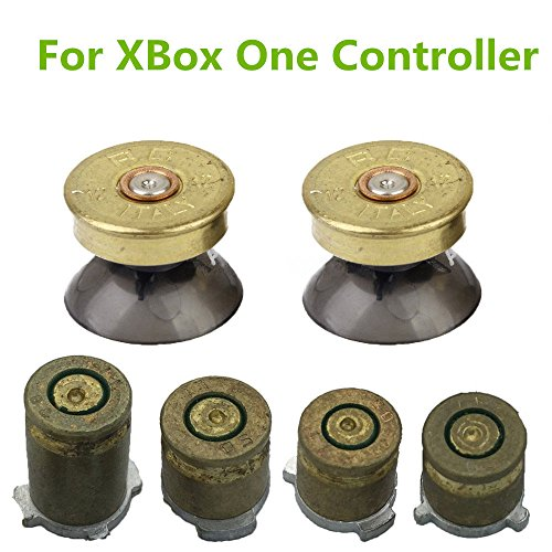 YTTL Thumbsticks Bullet Buttons and Bullet ABXY Buttons Set Mod Kits for Xbox one / Xbox ONE Elite Controller (Controller Xbox Buttons Bullets)