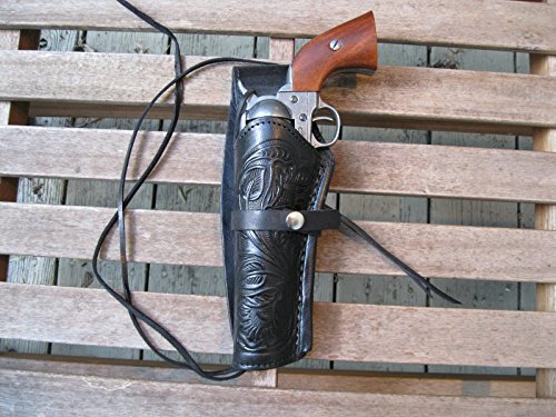 (Western Gun Holster - Black - Left Handed - for .22 Caliber single action revolver - Size 6