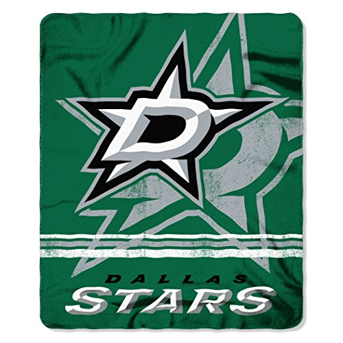 Officially Licensed NHL Dallas Stars Fade Away Printed Fleece Throw Blanket, 50