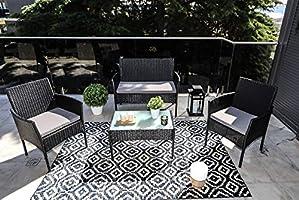 Beneffito Conjunto Muebles de jardín Tulum en Resina ...