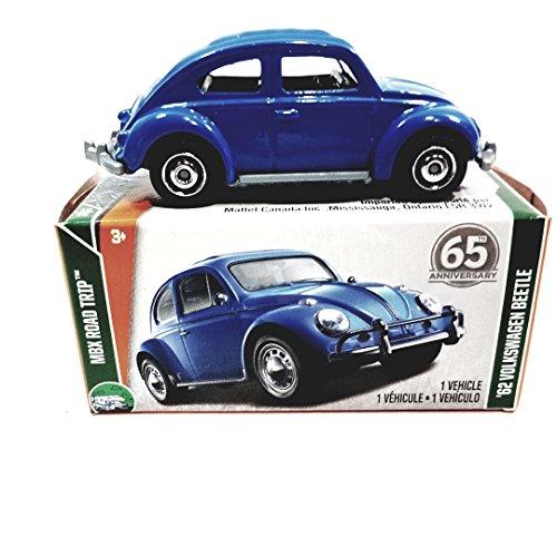 Matchbox 65th Anniversary Blue 1962 Volkswagen VW Beetle Road Trip 1/64 S Scale Diecast