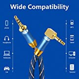90 Degree Right Angle Aux Cable - [24K