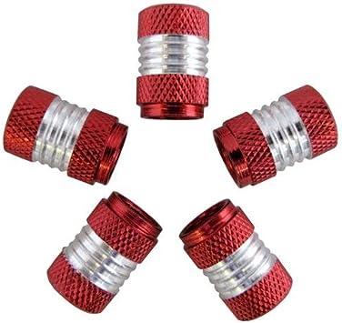 Ventilkappen Alu CNC rot