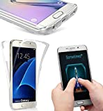 NWNK13® New Ultra Thin 360° Samsung Galaxy S7 EDGE Soft Slim Shockproof Protective Front and Back [ Full Body ] TPU Silicone Gel Case Cover With Card Organiser (CLEAR)