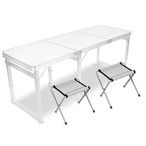 YILIAN zhediezhuo Mesas y sillas Plegables Mesa de Comedor ...